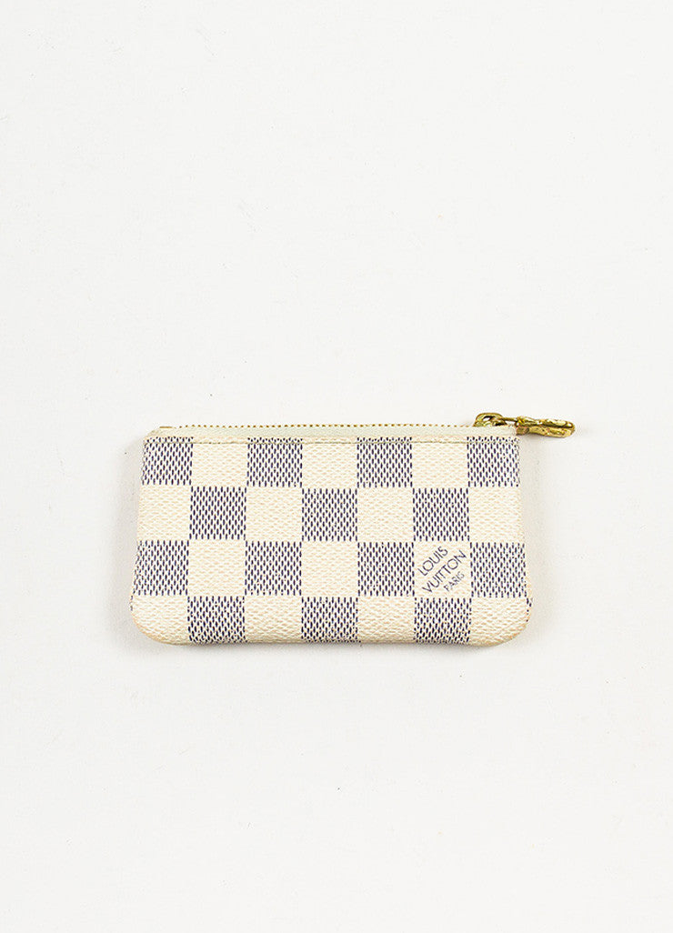 Louis Vuitton Damier Azur Canvas Key Pouch Frontview