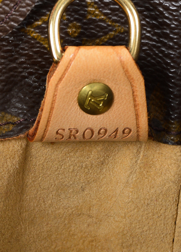 "Brown Louis Vuitton ""Luco"" Monogram ""LV"" Canvas Tote Bag Date Code"