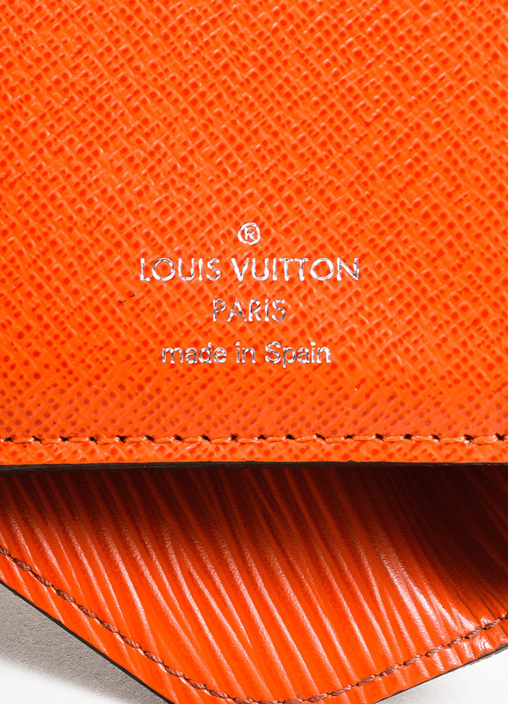 "Louis Vuitton Brown and Orange Epi Leather Monogram Compact ""Marie-Lou"" Wallet brand"