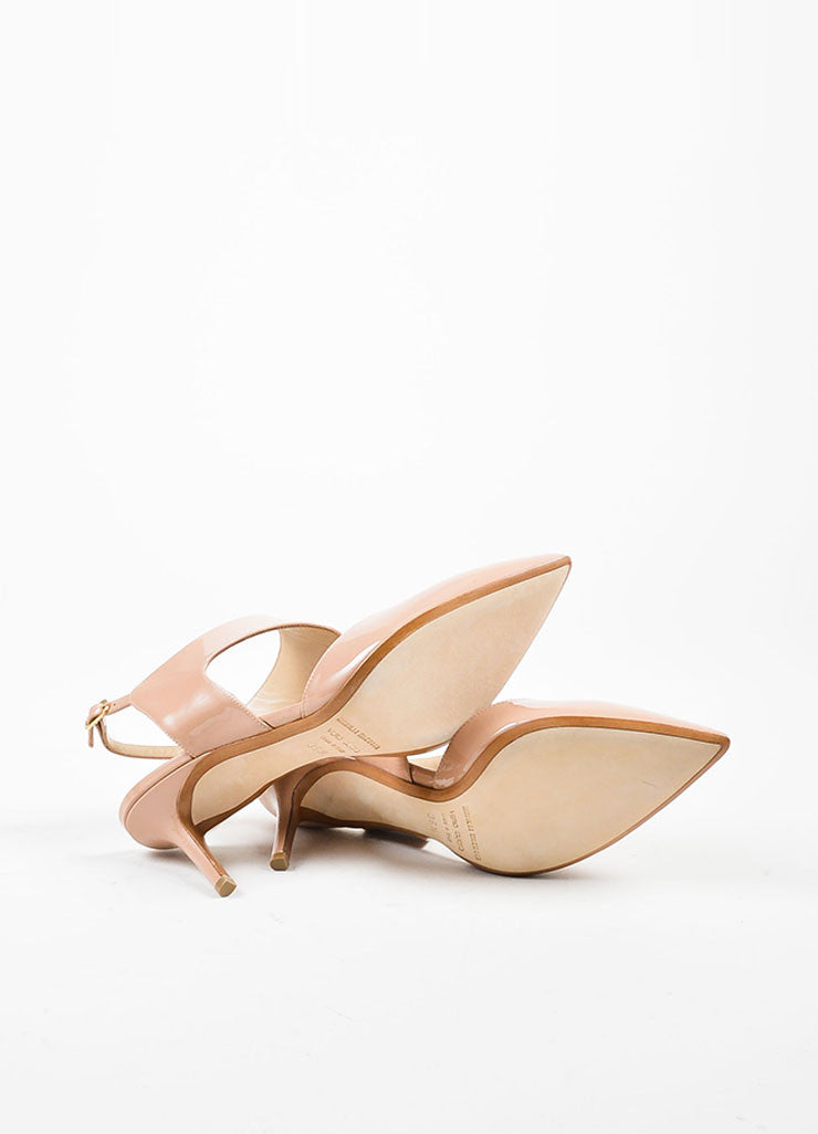 "Nude Nicholas Kirkwood Patent Leather ""Leda"" Cut Out Pumps Outsoles"