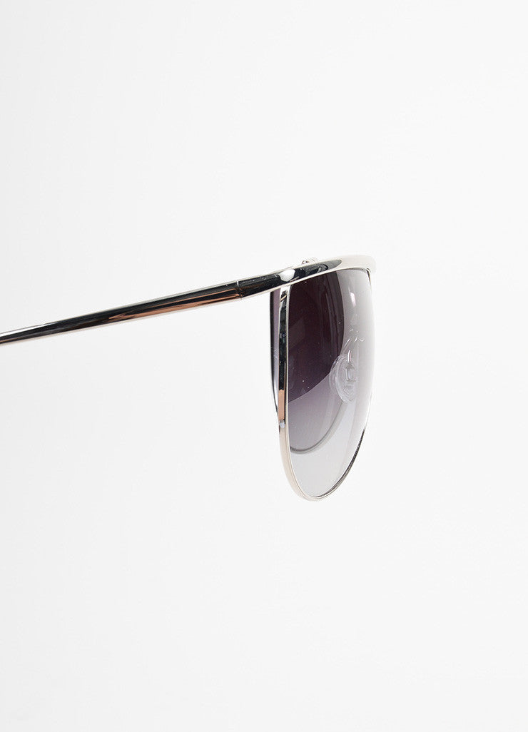 "Oliver Peoples for Balmain Silver Toned ""Balmain 2"" Aviator Sunglasses Detail"