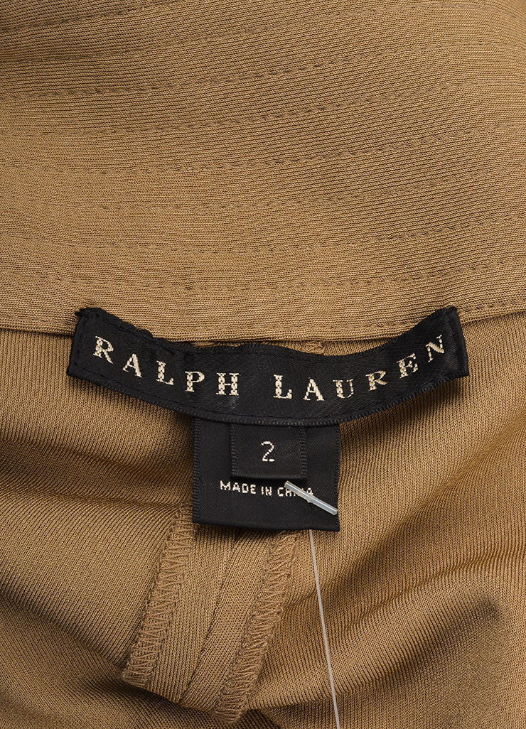 Ralph Lauren New With Tags Tan Pleated Tapered Pants Brand
