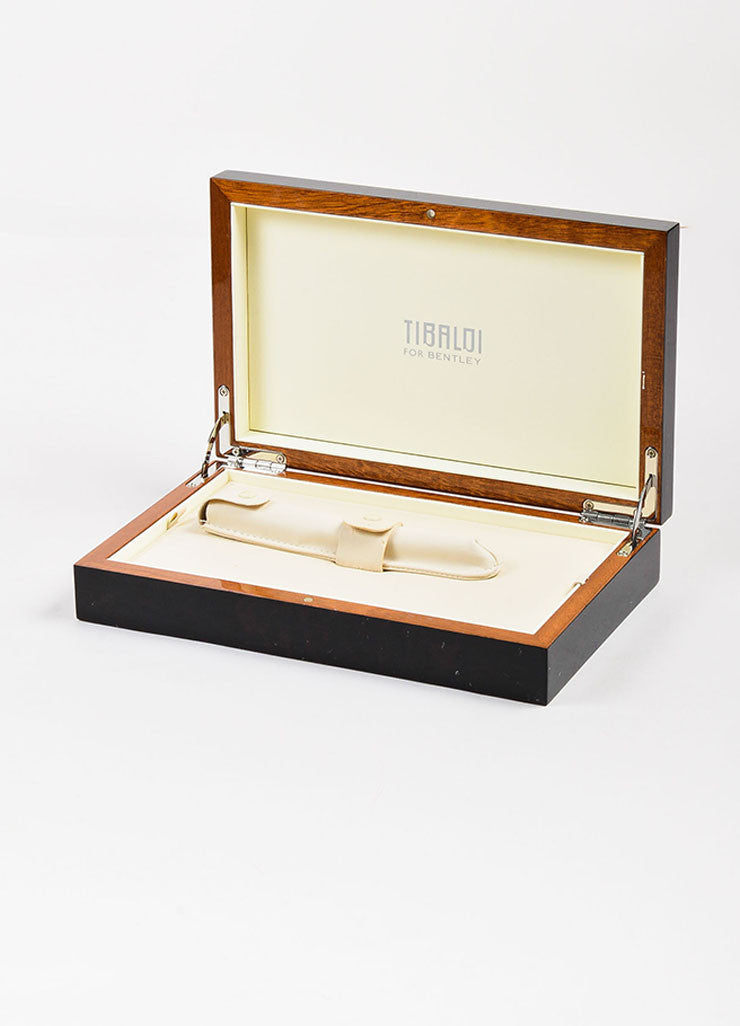 "Tibaldi x Bentley Black Palladium and 18K White Gold ""Brooklands"" Fountain Pen Box"