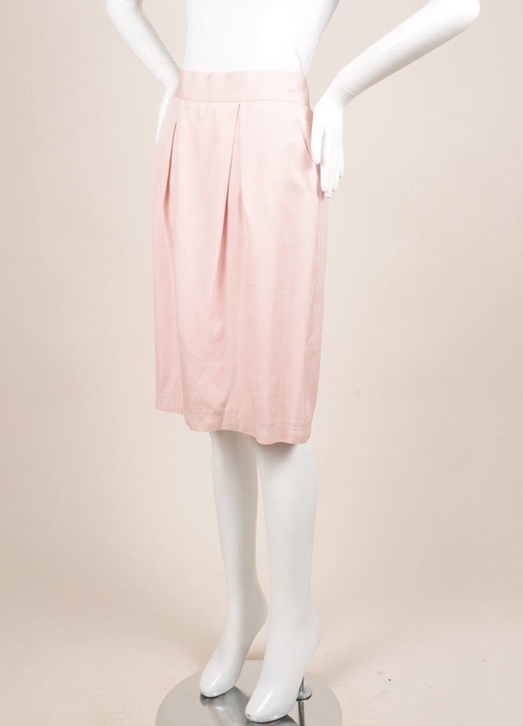 Chanel Light Pink Pencil Skirt Sideview