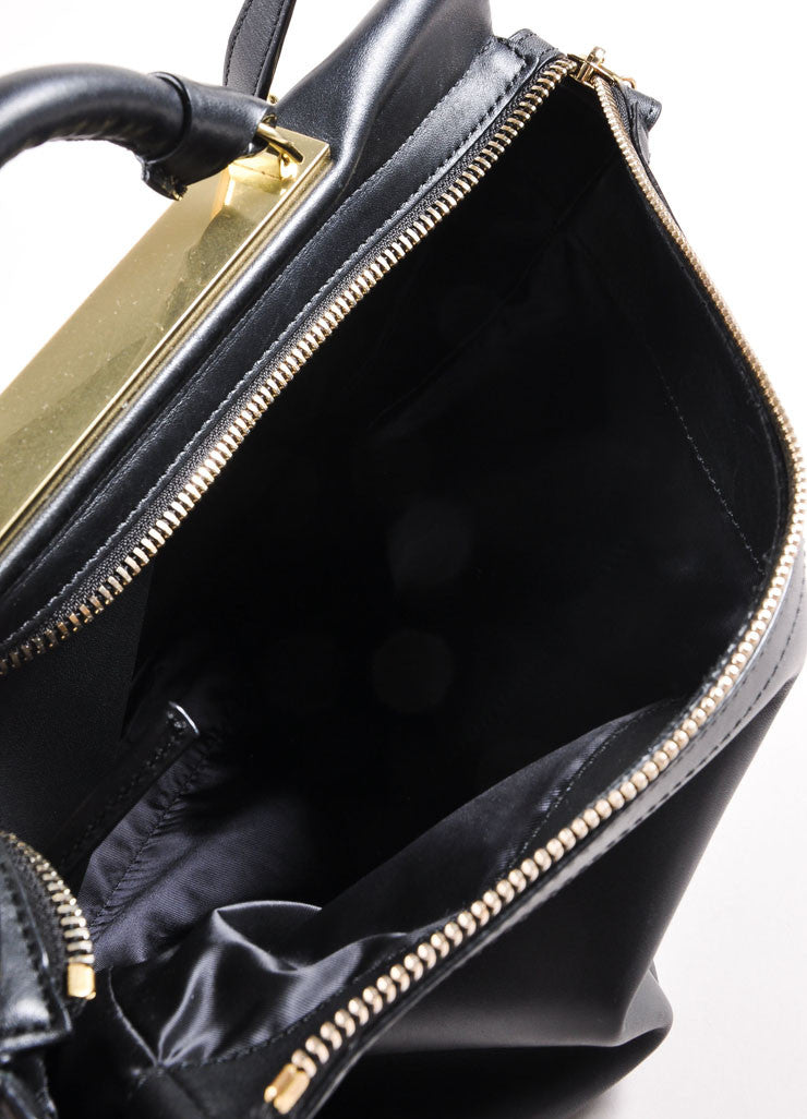 "3.1 Phillip Lim Black Paneled ""Ryder"" Satchel Bag Interior"