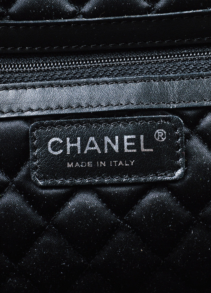 "Dark Brown Chanel Leather Quilted ""Perfect Day"" Tote Bag Brand"