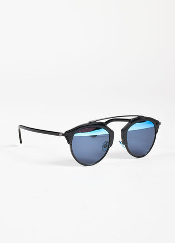 "Christian Dior Black and Blue Duo Tone ""Dior So Real"" Sunglasses Sideview"