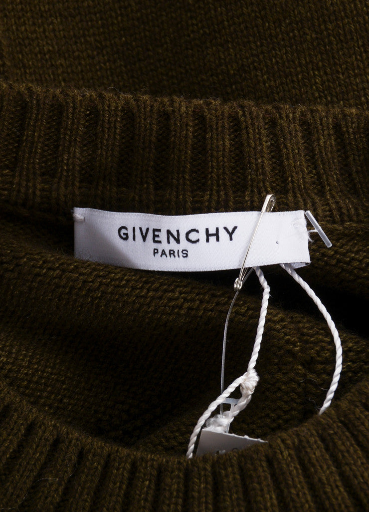 Givenchy Multicolor Argyle Patchwork Asymmetric Knit Vest Brand