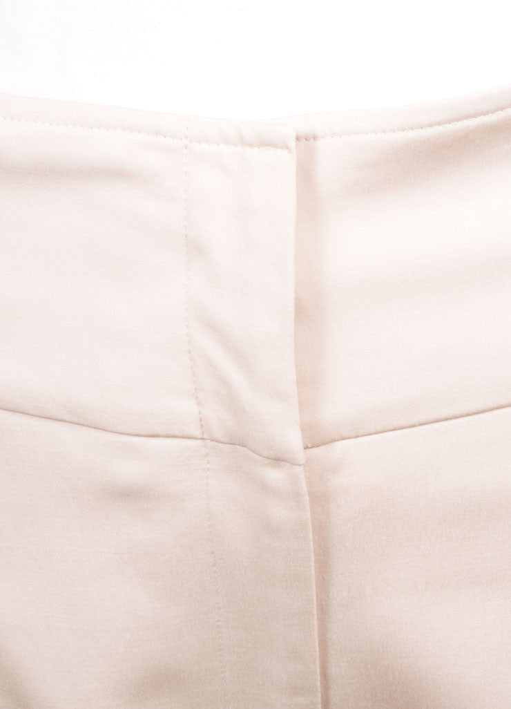 Lela Rose New With Tags Blush Wool Blend High Waisted Wide Leg Trousers Detail