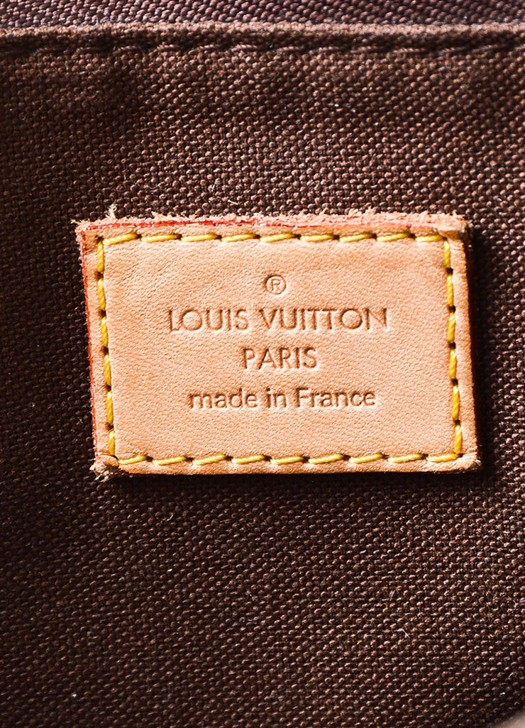 "Brown and Tan Louis Vuitton Coated Canvas Monogram ""Menilmontant MM"" Shoulder Bag Brand"