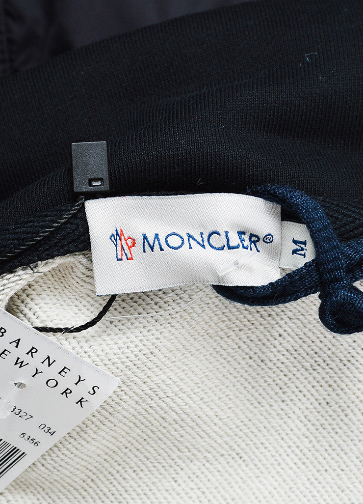 Moncler Black and Grey Knit Nylon Zip Up Windbreaker Jacket Brand