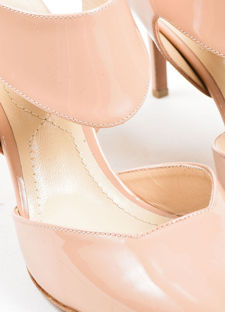 "Nude Nicholas Kirkwood Patent Leather ""Leda"" Cut Out Pumps Detail"