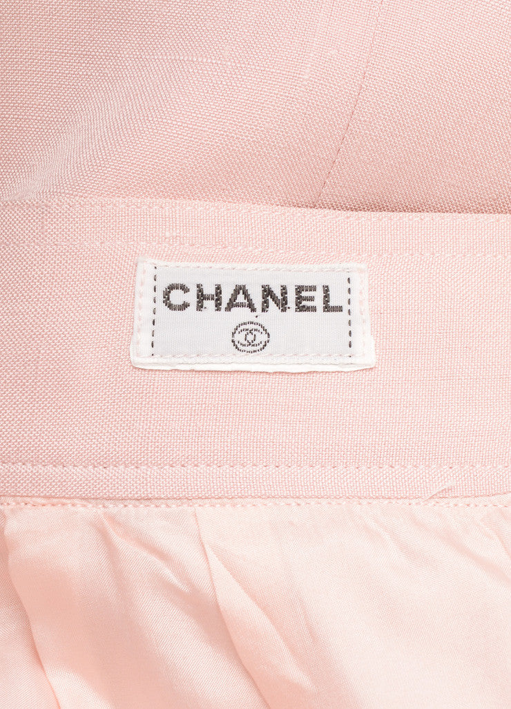 Chanel Light Pink Pencil Skirt Brand