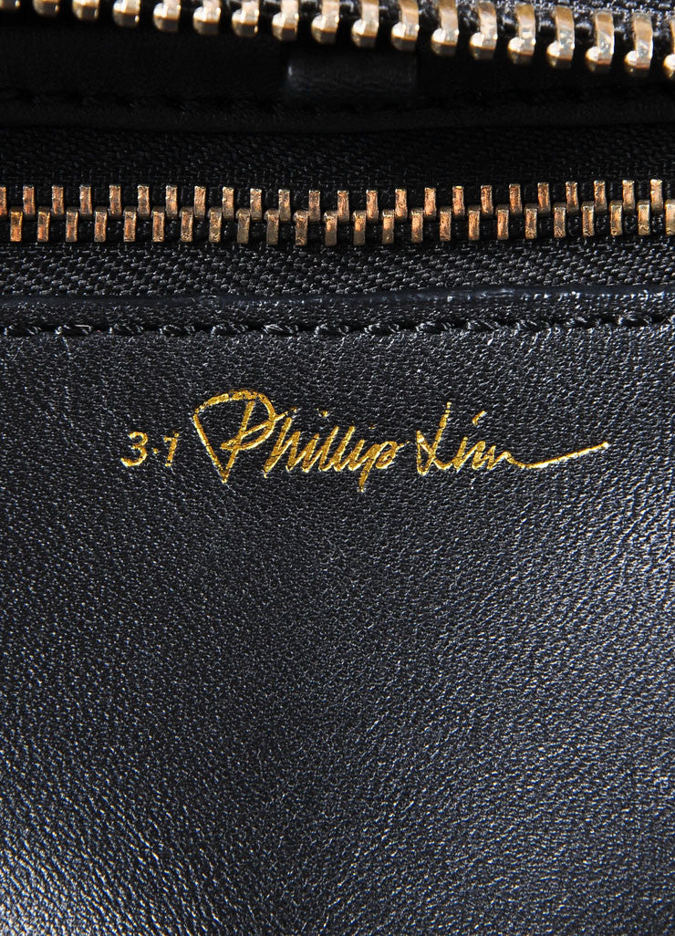 "3.1 Phillip Lim Black Paneled ""Ryder"" Satchel Bag Brand"