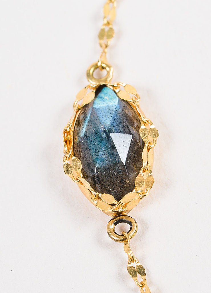 "Lana 14K Yellow Gold and Labradorite ""Possessed Gypsy"" Station Necklace Detail 2"