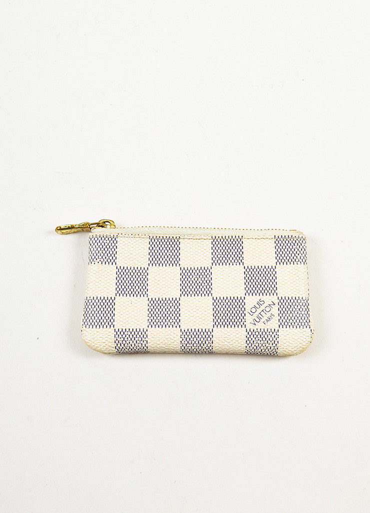 Louis Vuitton Damier Azur Canvas Key Pouch Backview