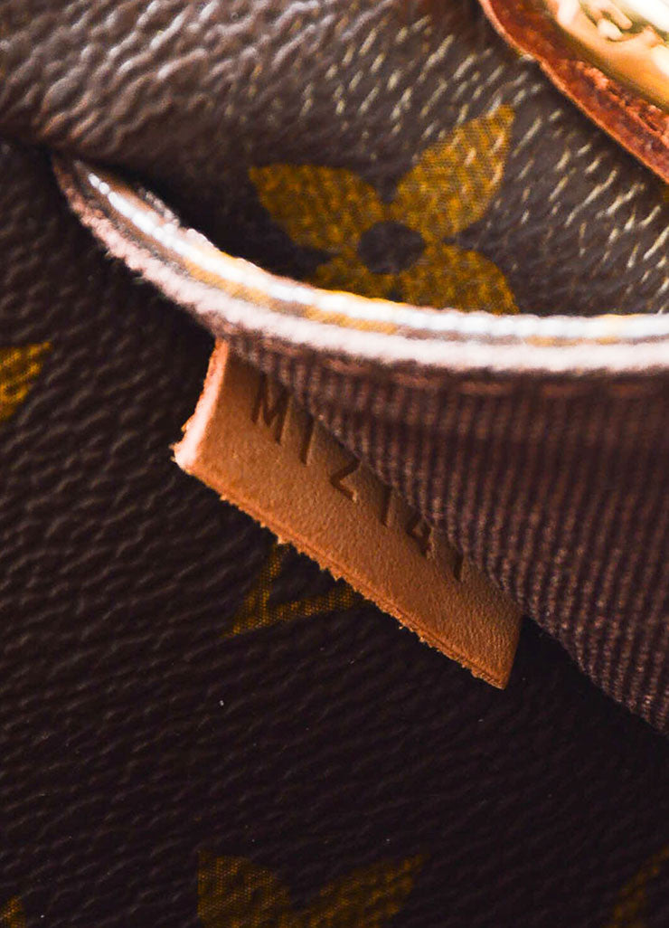 "Brown and Tan Louis Vuitton Coated Canvas Monogram ""Menilmontant MM"" Shoulder Bag Date Code"