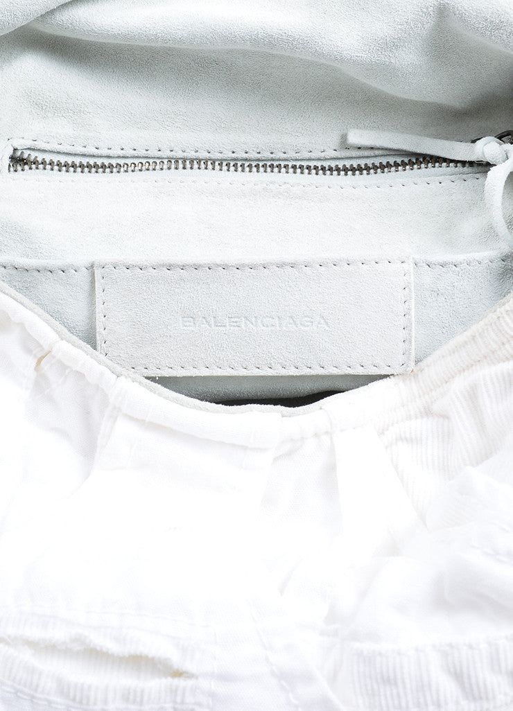 "White Corduroy Balenciaga ""Matrix"" Hobo Bag Brand"