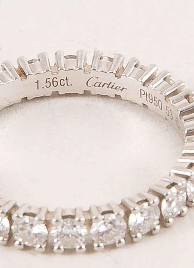 "Cartier 1.5 Carat Diamond and Platinum ""Eternity"" Band Ring Brand"
