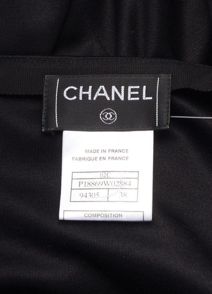Chanel Black Silk Sheer Chiffon Insert Maxi Skirt Brand