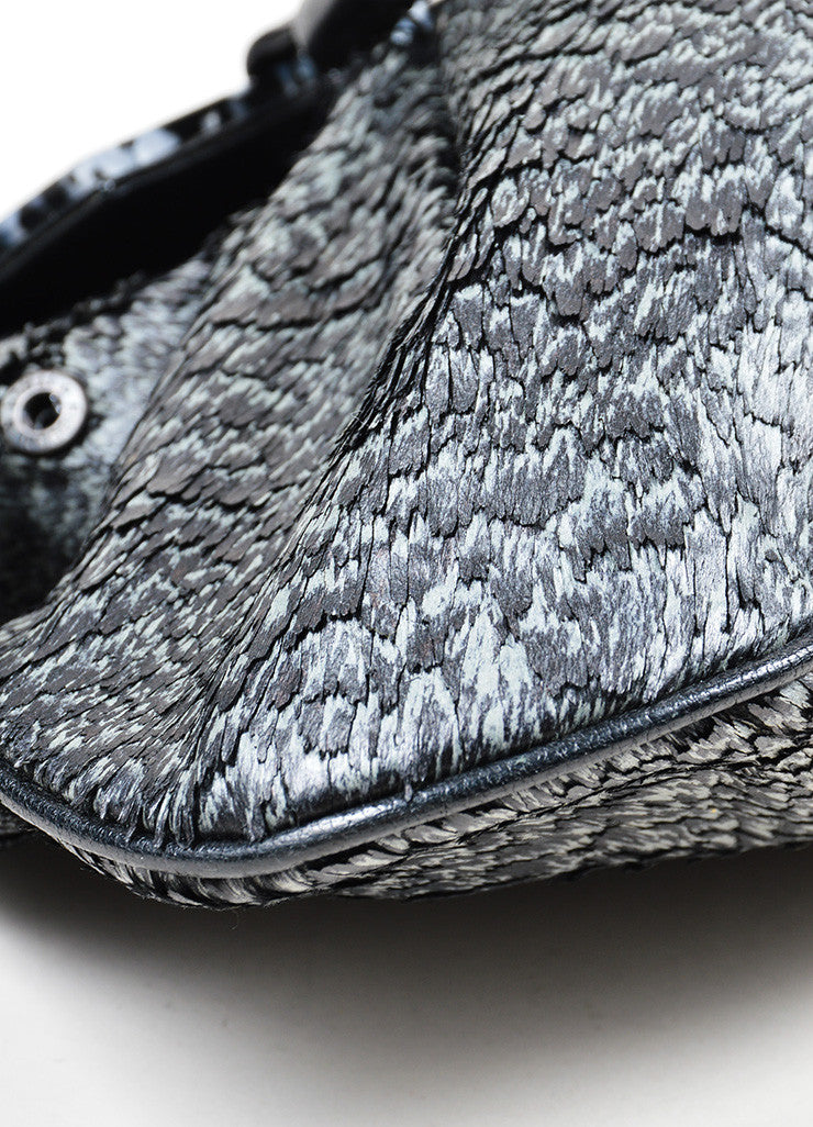 "Black and Grey Fendi Coated Pony Hair Lucite ""To You"" Convertible Bag Detail"