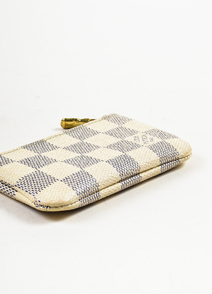 Louis Vuitton Damier Azur Canvas Key Pouch Bottom View