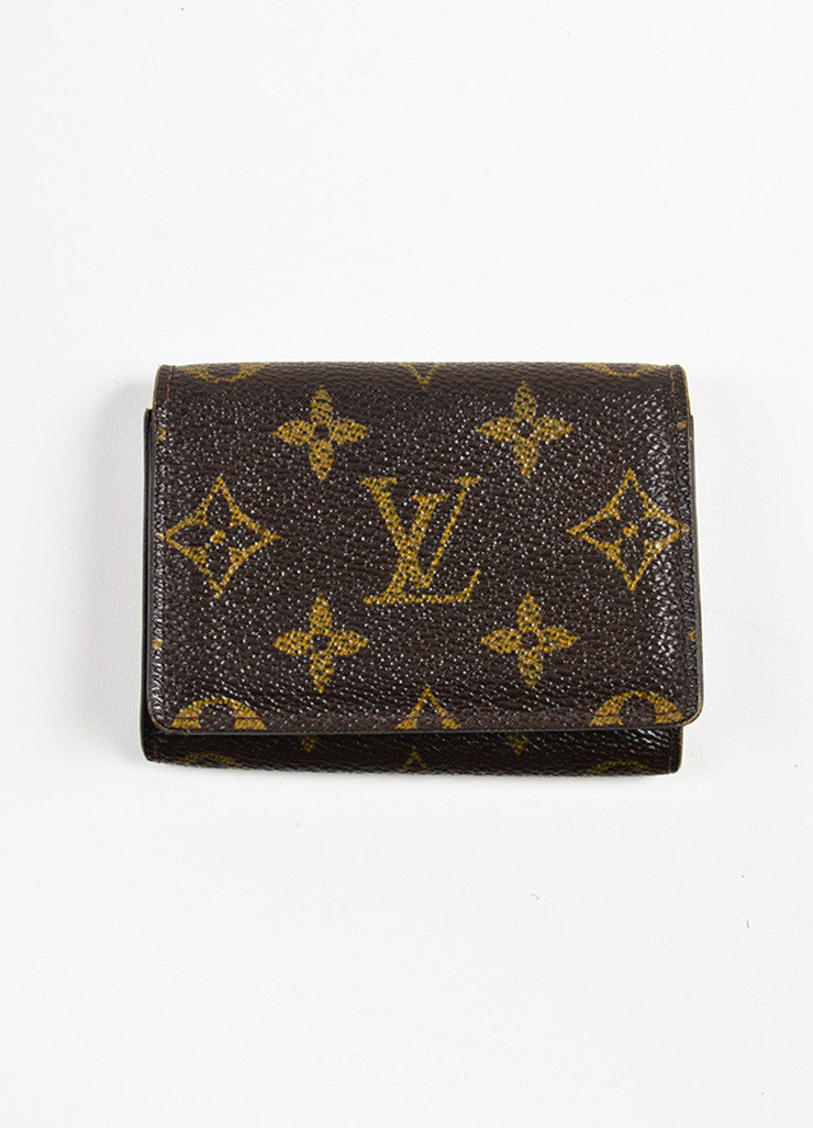 "Louis Vuitton Brown Monogram Canvas ""Business Card Holder"" Frontview"