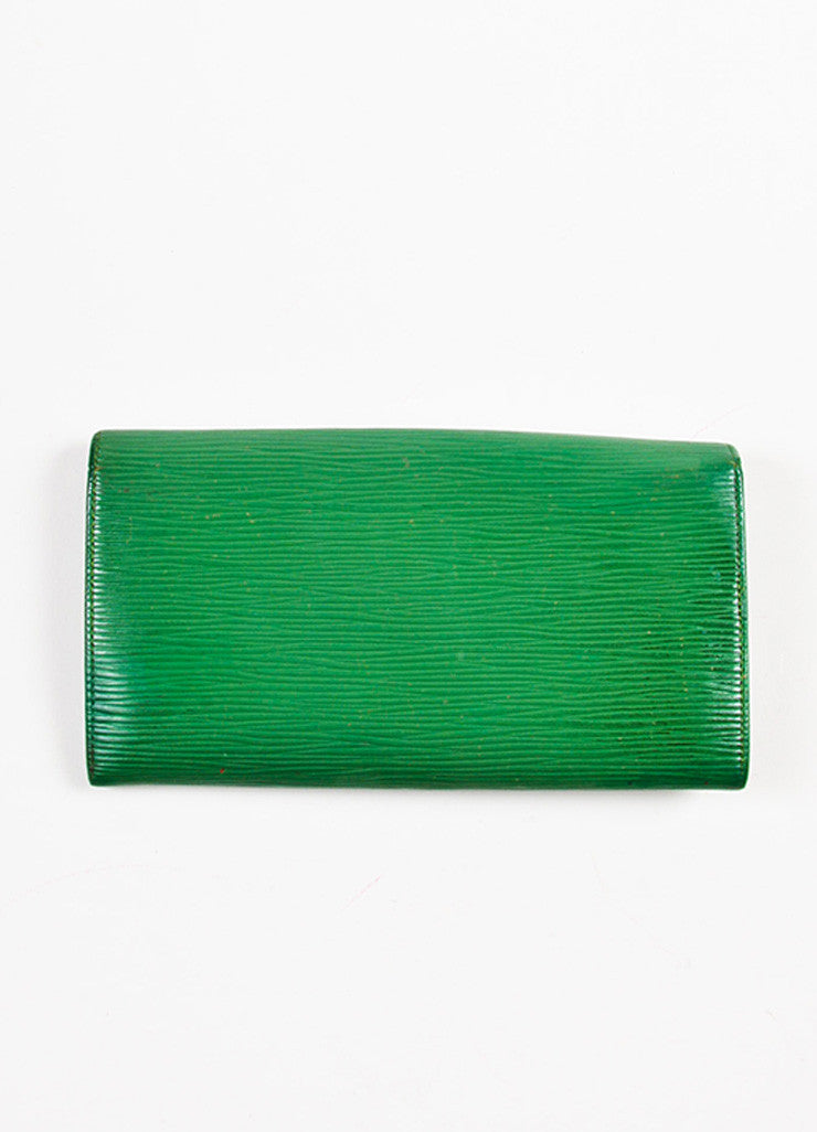 Louis Vuitton Green Epi Leather Long Wallet Backview