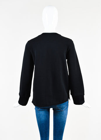 "Acne Studios Black Four Pocket Crew Neck ""Acadia"" Sweatshirt Backview"