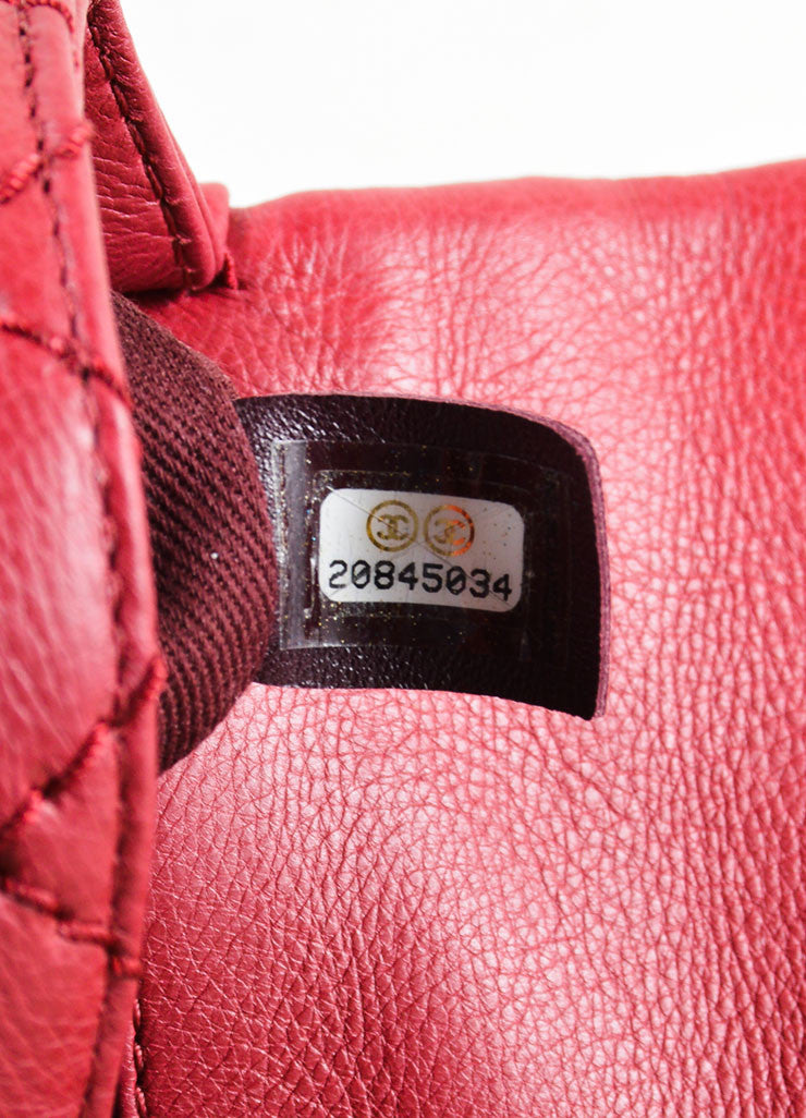 Chanel Red Leather Chain Strap Flap Crossbody Bag Hologram