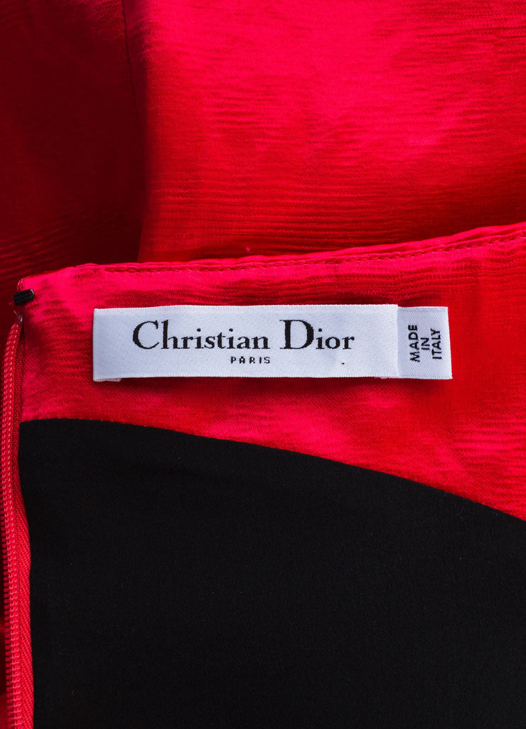 Christian Dior  Fuchsia Pink Satin Off the Shoulder Sheath Dress Brand