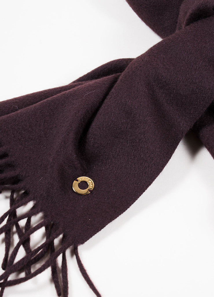 Loro Piana Brown Cashmere Fringe Scarf Detail