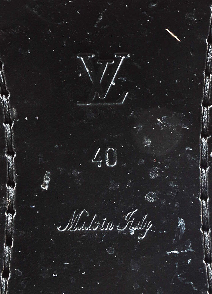 "Louis Vuitton Black Leather Monogram ""Free High"" Riding Boots Brand"