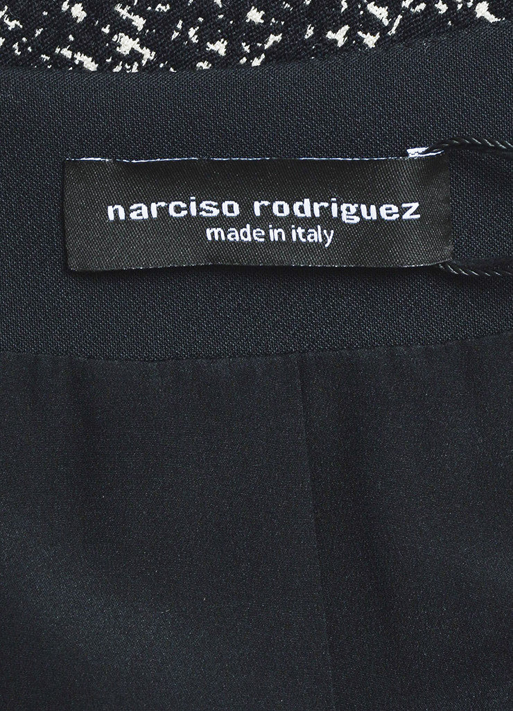 Narciso Rodriguez Black and White Tweed Stretch Scuba Combo Jacket Brand