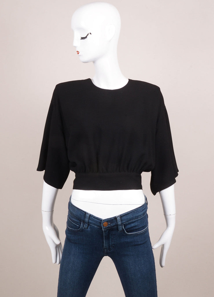Sonia Rykiel Black Tapered Crop Top Frontview
