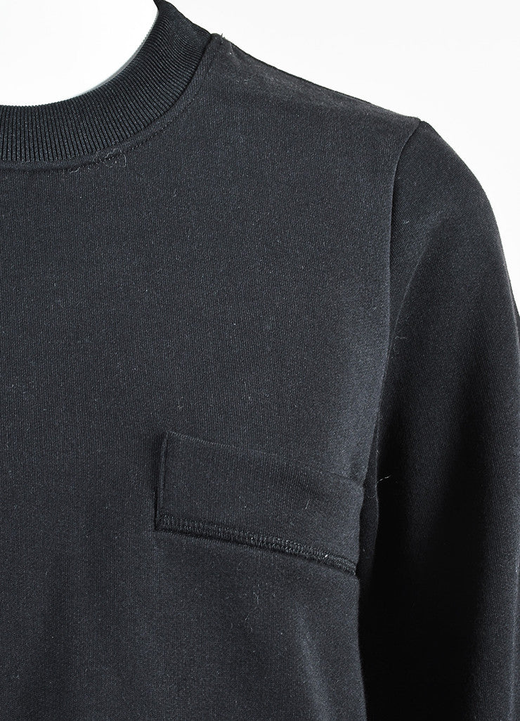 "Acne Studios Black Four Pocket Crew Neck ""Acadia"" Sweatshirt Detail"