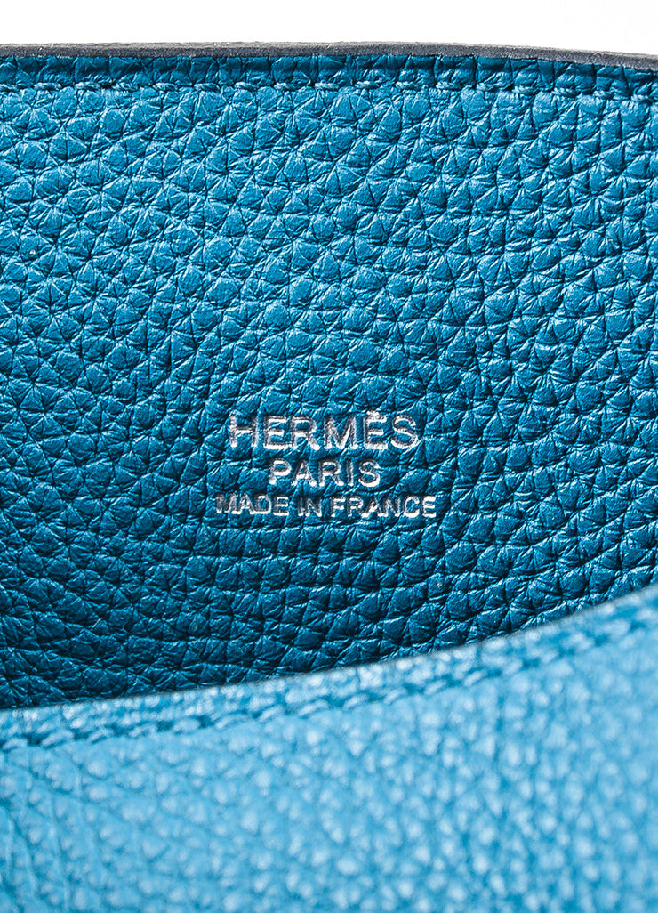 "Blue Hermes Togo Leather ""So Kelly 26"" Bucket Bag Brand"