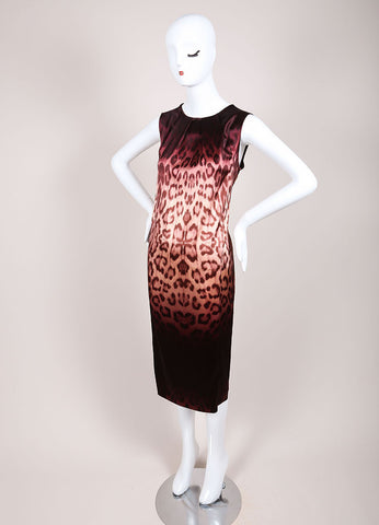 J Brand New With Tags Purple and Brown Leopard Print Sleeveless Shift Dress Sideview