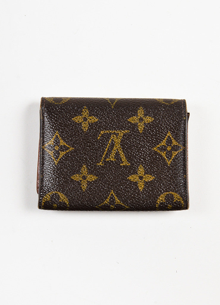 "Louis Vuitton Brown Monogram Canvas ""Business Card Holder"" Backview"