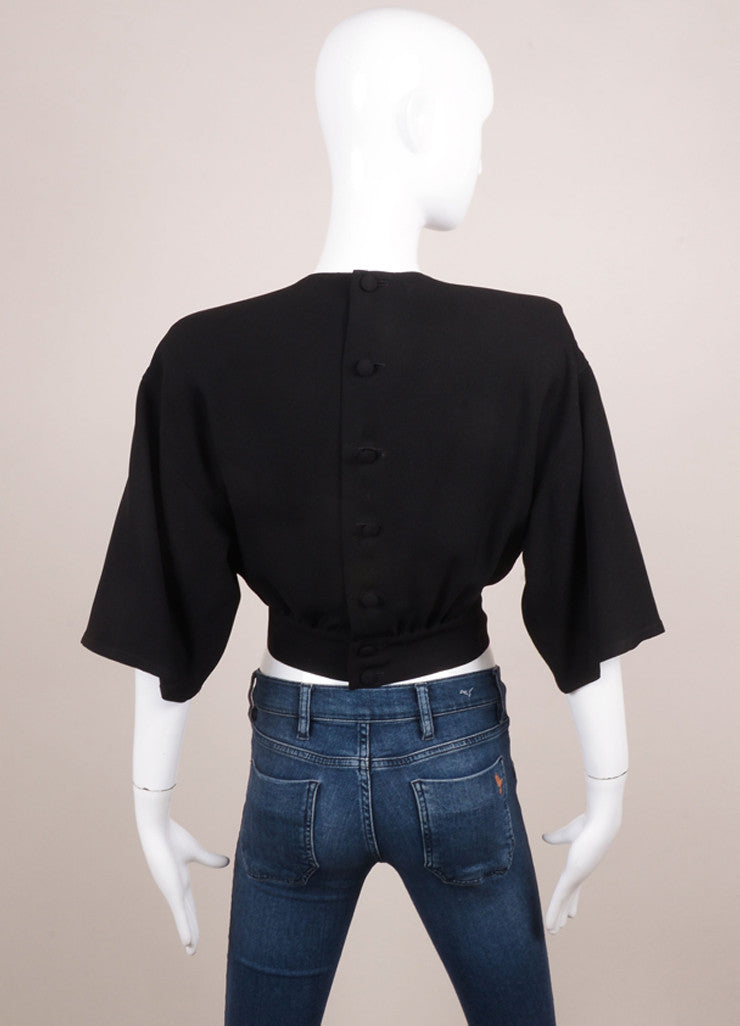 Sonia Rykiel Black Tapered Crop Top Backview