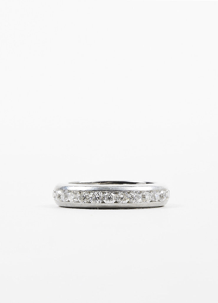 "Tiffany & Co. Platinum Diamond Channel Set ""Lucida"" Band Ring Backview"