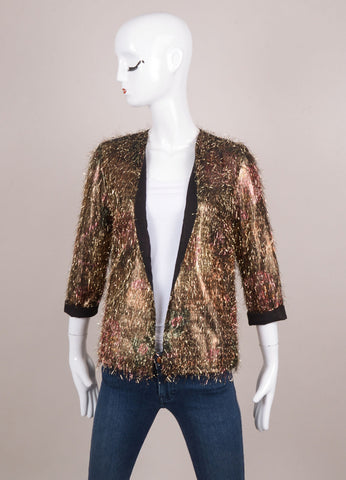 New With Tags Gold Tinsel Lightweight Jacket