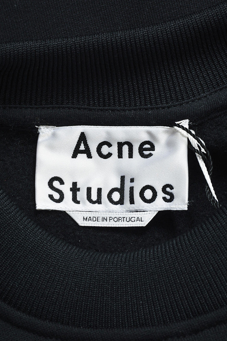 "Acne Studios Black Four Pocket Crew Neck ""Acadia"" Sweatshirt Brand"