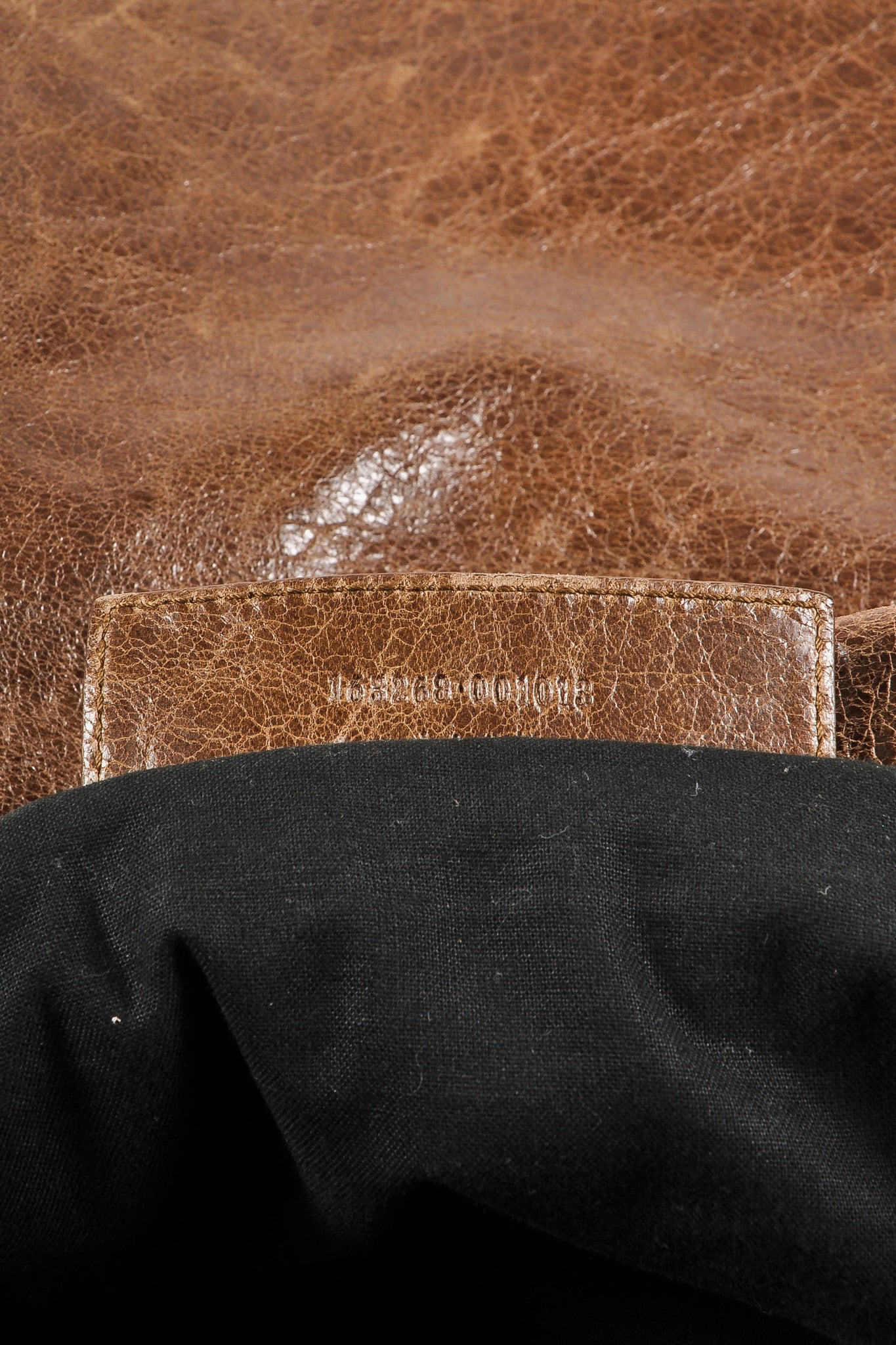 Balenciaga Brown Distressed Leather Messenger Bag Serial