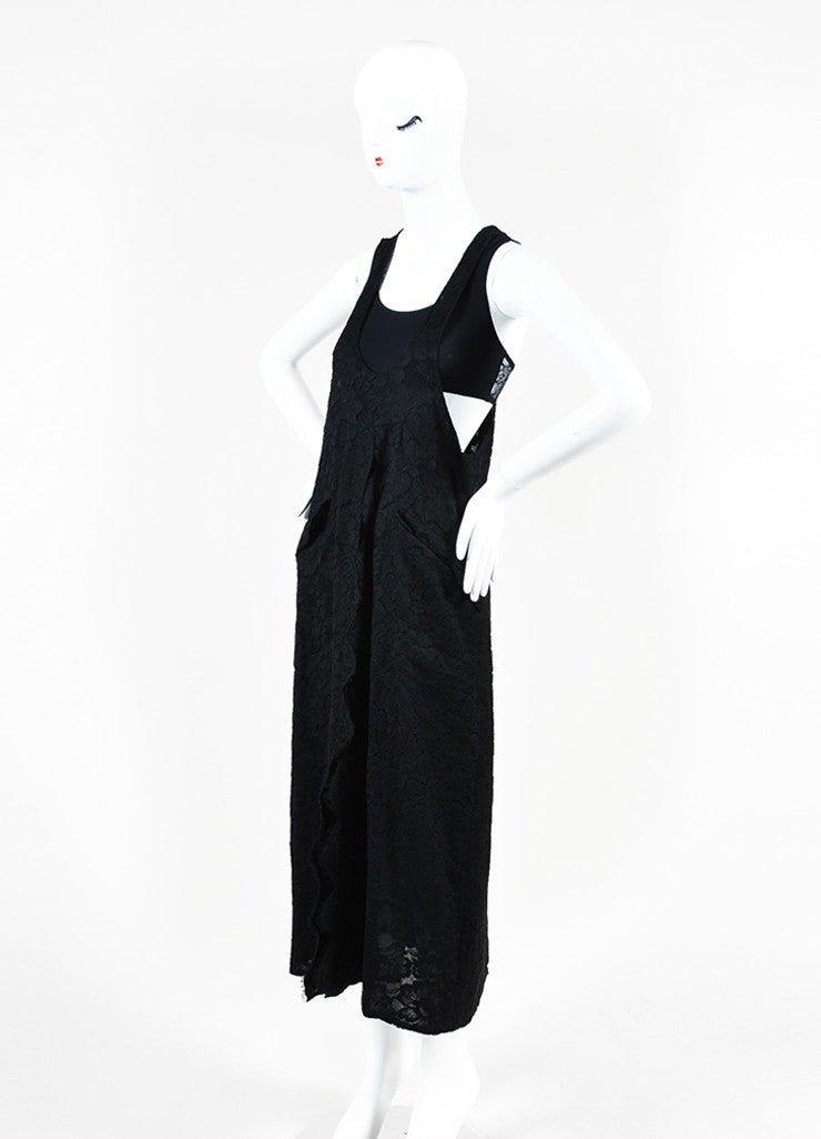 Chanel Black Cotton Lace Sleeveless Scoop Neck Maxi Dress  Sideview