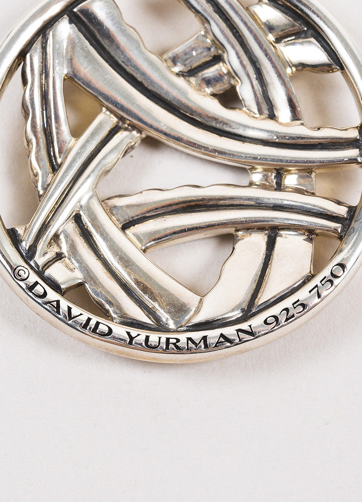 David Yurman Sterling Silver and 18K Yellow Gold Two Tone Cable Pendant Necklace Brand