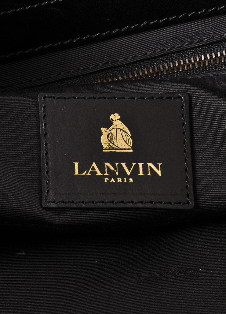 Lanvin Tan, Black, and Magenta Leather Straw Woven Tote Bag Brand