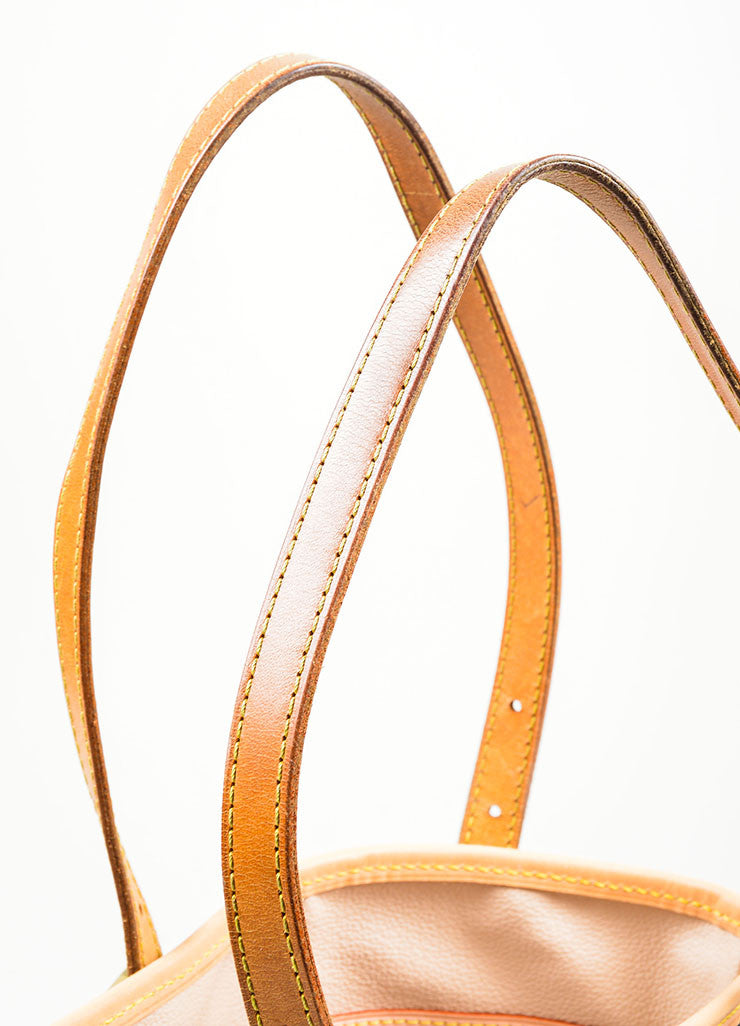 "Louis Vuitton Brown Coated Canvas ""Petite Bucket"" Bag Detail 2"