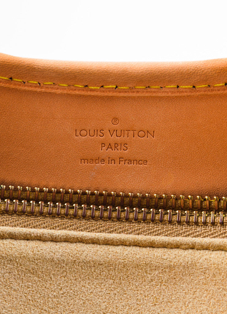 "Louis Vuitton Brown and Beige Coated Canvas and Leather ""Etoile Shopper"" Bag Brand"