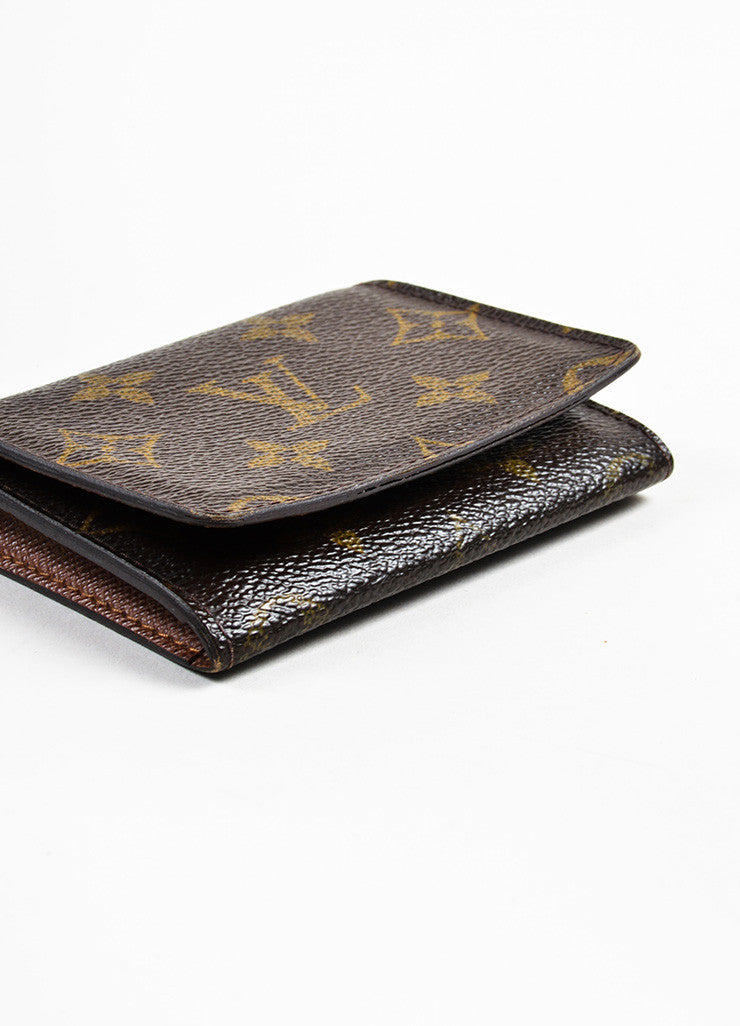 "Louis Vuitton Brown Monogram Canvas ""Business Card Holder"" Bottom View"